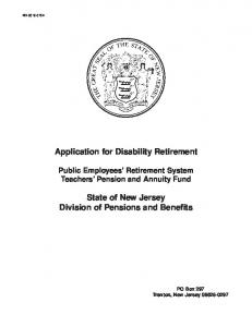 Application for Disability Retirement
