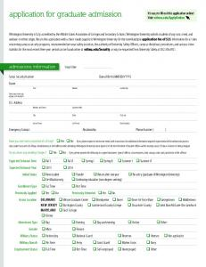 application for graduate admission
