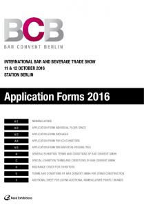 Application Forms 2016