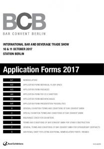 Application Forms 2017