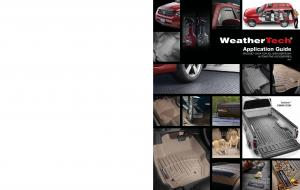 Application Guide Product data for all Weathertech automotive accessories TechLiner Coming Soon!