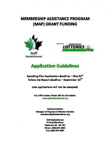 Application Guidelines