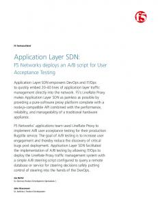 Application Layer SDN: