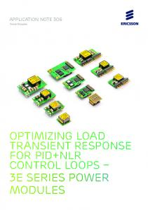 Application Note 306. Power Modules. Optimizing Load Transient Response for Pid+NLR control loops. 3E Series Power Modules