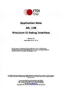Application Note AN_138. Vinculum-II Debug Interface