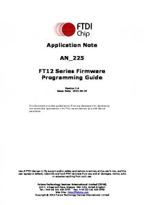 Application Note AN_225. FT12 Series Firmware Programming Guide