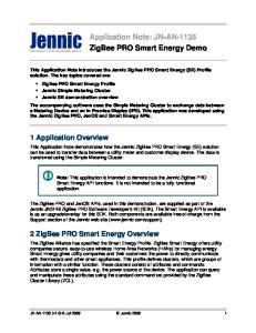 Application Note: JN-AN-1135 ZigBee PRO Smart Energy Demo