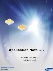 Application Note rev1.8. Samsung Electronics LM231A (2323L)