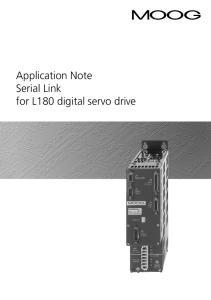 Application Note Serial Link for L180 digital servo drive