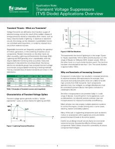 Application Note: Transient Voltage Suppressors (TVS Diode) Applications Overview