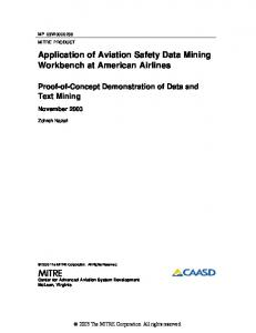 Application of Aviation Safety Data Mining Workbench at American Airlines