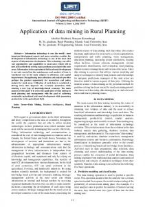 Application of data mining in Rural Planning