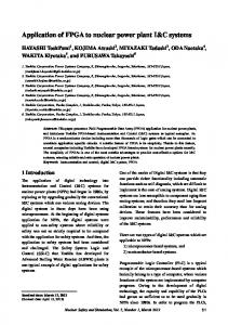 Application of FPGA to nuclear power plant I&C systems