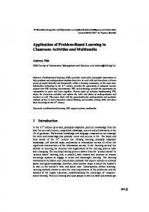 Application of Problem-Based Learning in Classroom Activities and Multimedia