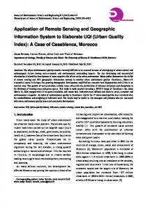 Application of Remote Sensing and Geographic Information System to Elaborate UQI (Urban Quality Index): A Case of Casablanca, Morocco