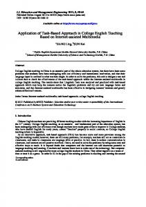 Application of Task-Based Approach in College English Teaching Based on Internet-assisted Multimedia