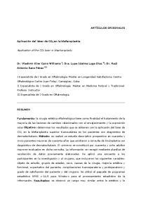 Application of the CO 2 laser in blepharoplasty