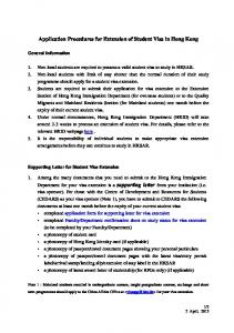 Application Procedures for Extension of Student Visa in Hong Kong