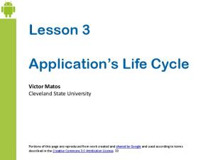Application s Life Cycle