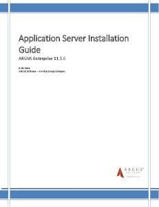 Application Server Installation