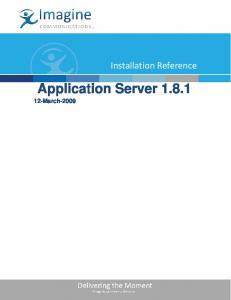 Application Server March-2009