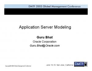 Application Server Modeling