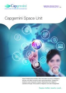 Application Services France Aerospace & Defense Business Unit. Capgemini Space Unit