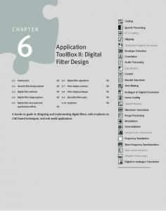 Application ToolBox II: Digital Filter Design