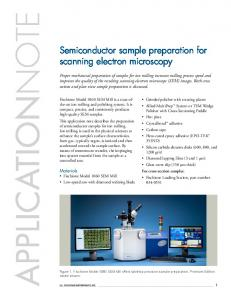 APPLICATIONNOTE. Semiconductor sample preparation for scanning electron microscopy
