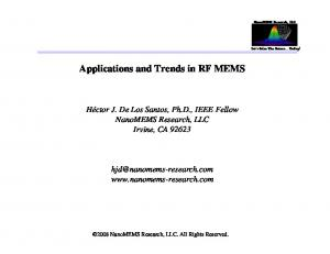Applications and Trends in RF MEMS