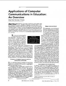 Applications of Computer Communications in Education: An Overview