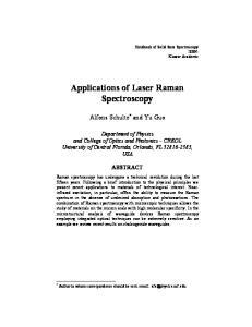 Applications of Laser Raman Spectroscopy