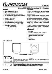 Applications. Top view UDFN-4L 0.8x0.8 and UDNF-4L 1x1
