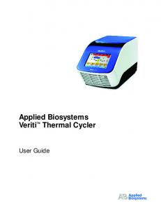 Applied Biosystems Veriti Thermal Cycler. User Guide