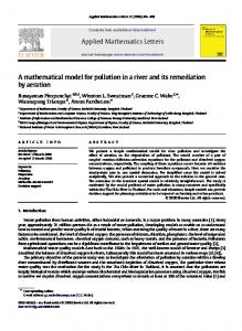 Applied Mathematics Letters. A mathematical model for pollution in a river and its remediation by aeration