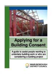 Applying for a Building Consent