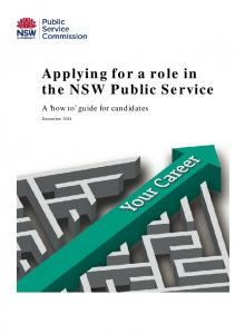 Applying for a role in the NSW Public Service