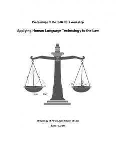 Applying Human Language Technology to the Law