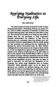 Applying Meditation to Everyday Life