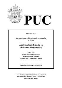 Applying the 3C Model to Groupware Engineering
