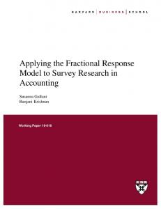 Applying the Fractional Response Model to Survey Research in Accounting