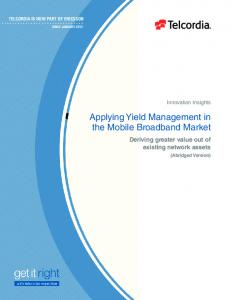 Applying Yield Management in the Mobile Broadband Market
