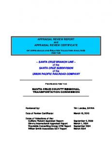 APPRAISAL REVIEW REPORT and APPRAISAL REVIEW CERTIFICATE