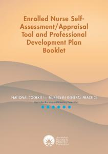 Appraisal Tool and Professional Development Plan Booklet