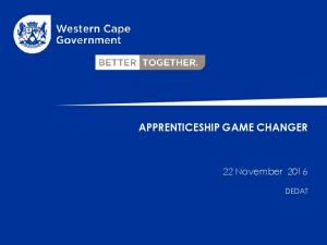 APPRENTICESHIP GAME CHANGER