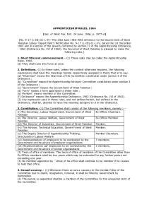 APPRENTICESHIP RULES, 1966