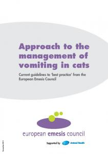 Approach to the management of vomiting in cats