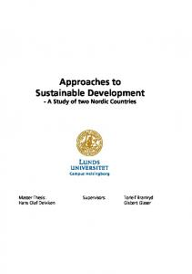 Approaches to Sustainable Development - A Study of two Nordic Countries