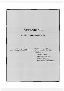 Approved Products Supplier Approved Date Comments