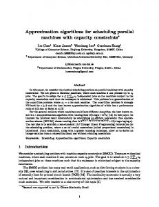 Approximation algorithms for scheduling parallel machines with capacity constraints